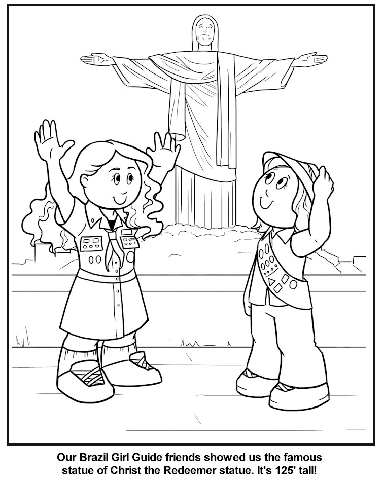 Brazilian Girl Guide Coloring Page