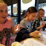 Brownie Ice Cream Party during Girl Scout week.