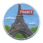 Girl Scout France Thinking Day Landmark Patch