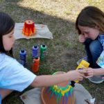 Daisy Girl Scout troop earning their garden journey.