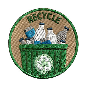 """The Recycle Service Patch is from the Youth Squad Environmental Patch Program®. MakingFriends®.com partnered with Youth Squad to bring you a rewarding community service program with step-by-step instructions for every age level to make a meaningful impact in their community. This is one of our """"Friend"""" level patches which is great for younger achievers.   via @gsleader411"""