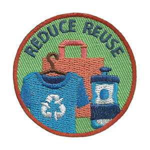 """The Reduce Reuse Service Patch is from the Youth Squad Environmental Patch Program®. MakingFriends®.com partnered with Youth Squad to bring you a rewarding community service program with step-by-step instructions for every age level to make a meaningful impact in their community. This is one of our """"Friend"""" level patches which is great for younger achievers.   via @gsleader411"""