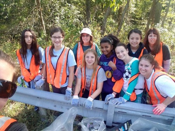 Girl Scout Highway Clean Up
