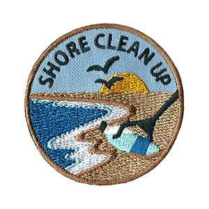 """The Shore Clean Up Service Patch is from the Youth Squad Environmental Patch Program®. MakingFriends®.com partnered with Youth Squad to bring you a rewarding community service program with step-by-step instructions for every age level to make a meaningful impact in their community. This is one of our """"Friend"""" level patches which is great for younger achievers.   via @gsleader411"""
