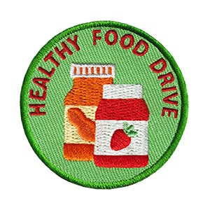 Healthy Food Drive Service Patch from Youth Squad