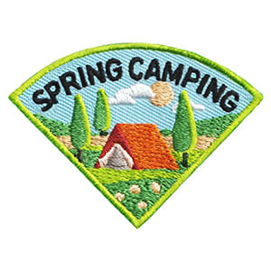 Scout Spring Camping Fun Patch