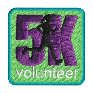 Girl Scout 5K Volunteer Fun Patch