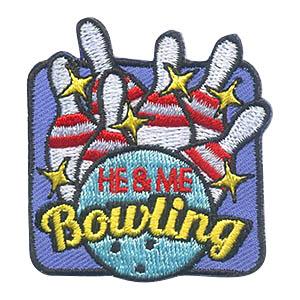 He & Me Bowling Fun Patch