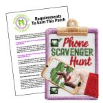Girl Scout Phone Scavenger Hunt Fun Patch