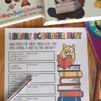 library tour, library, books, reading, scavenger hunt, hunt, reading