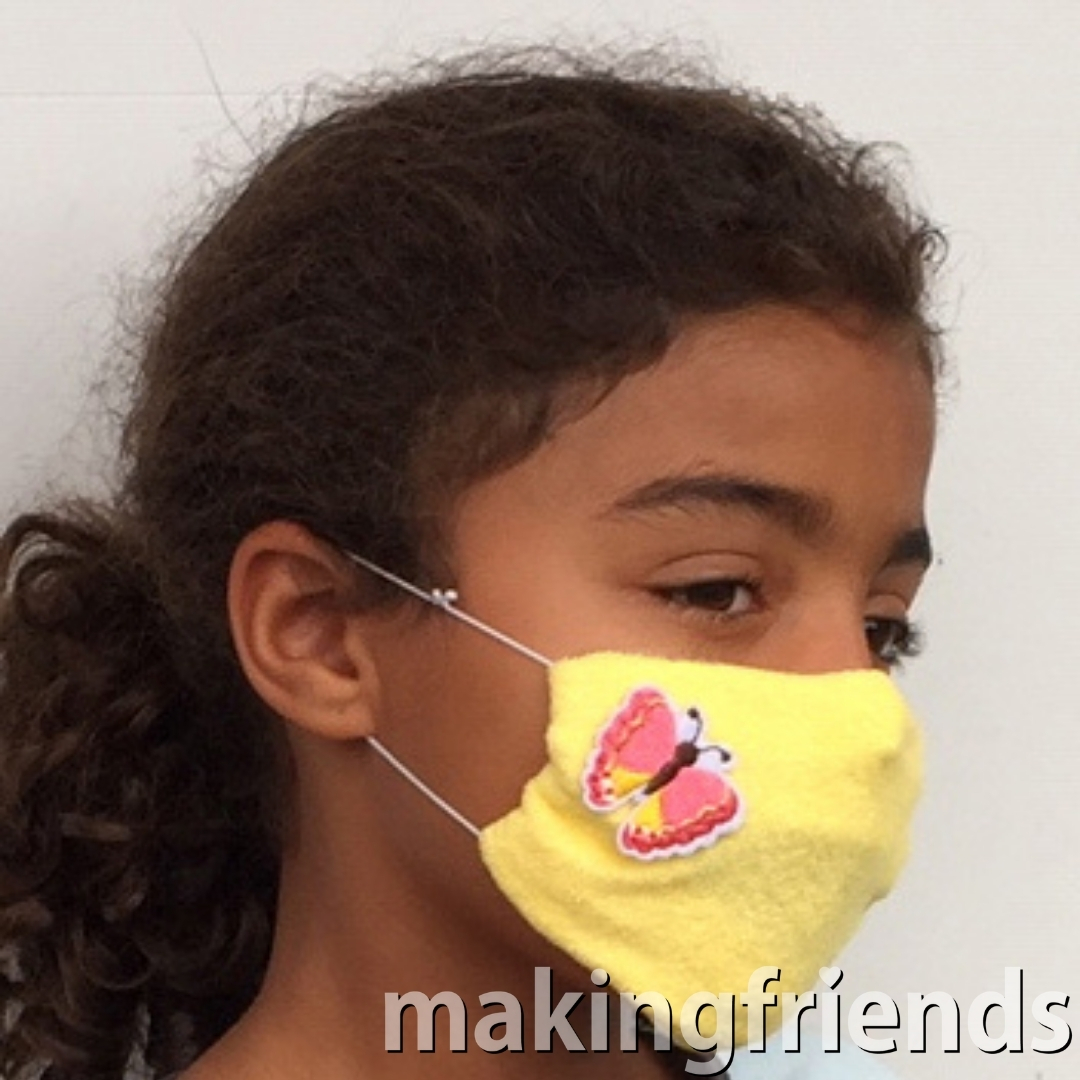 No Sew Face Mask Kit -- Makes 6 Includes 8 surprise embroidered embellishments to choose from! Collect all 50! #masks #facemasks #maskkits #diymasks #nosewmasks #makingfriends #mf #scoutingfromhome #virtualscouting #girlscoutswaps #swaps #tradition #crafts #diy #swapkits #badgeinabag #girlscoutbadges #girlscoutpetals #girlscoutjourneys #thinkingday #scoutpatches #girlscouts #scouts #juliettescouts via @gsleader411