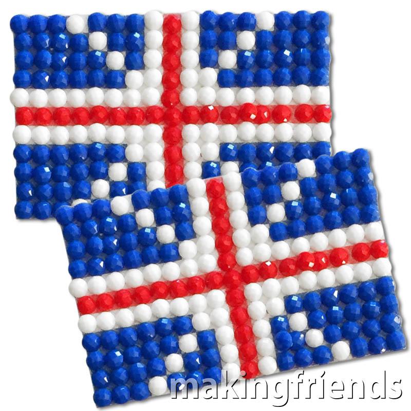 Diamond Painting United Kingdom flag pin Girl Scout SWAP via @gsleader411