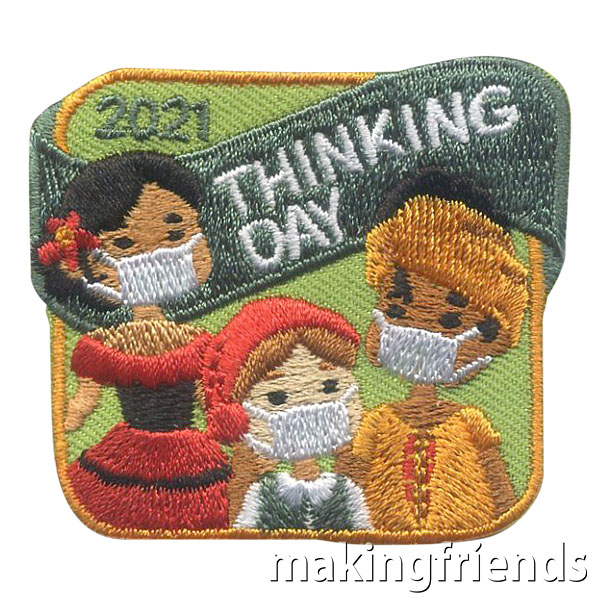 This is a Thinking Day to remember. Commemorate it with our patch with international girls wearing masks! $.69 each free shipping available! #makingfriends #thinkingday #thinkingdaypatch #gspatch #girlscouts #maskpatch #internationalthinkingday #funpatch #girlscoutpatch via @gsleader411