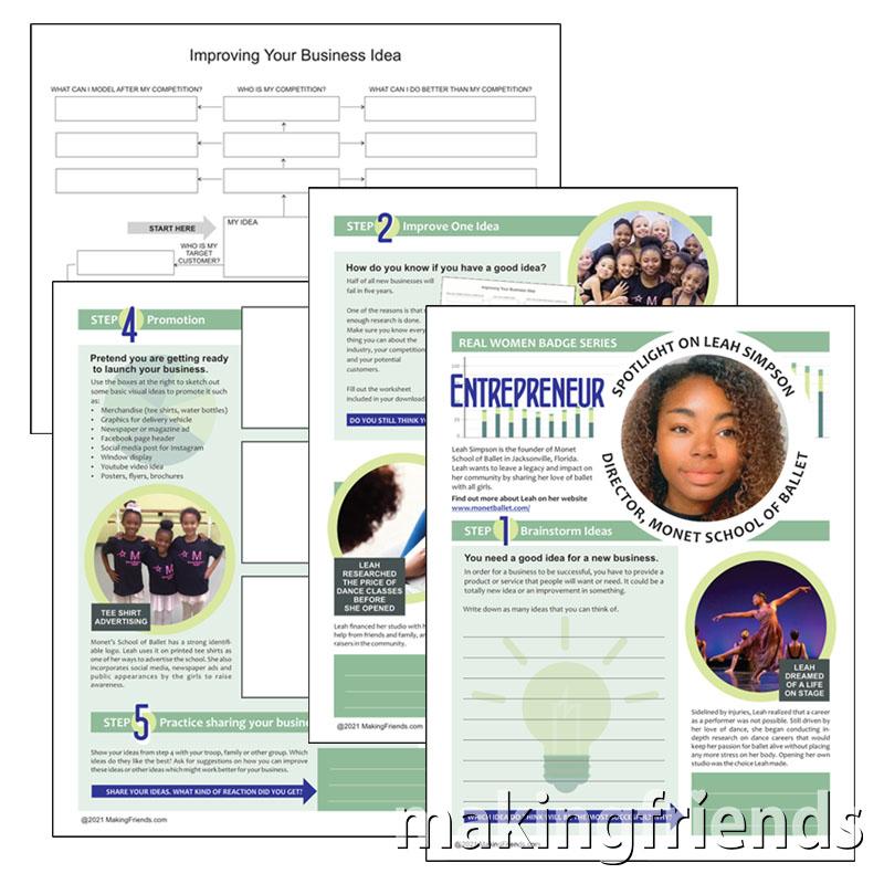 Girl Scout Entrepreneur Virtual Workshop for Cadettes via @gsleader411