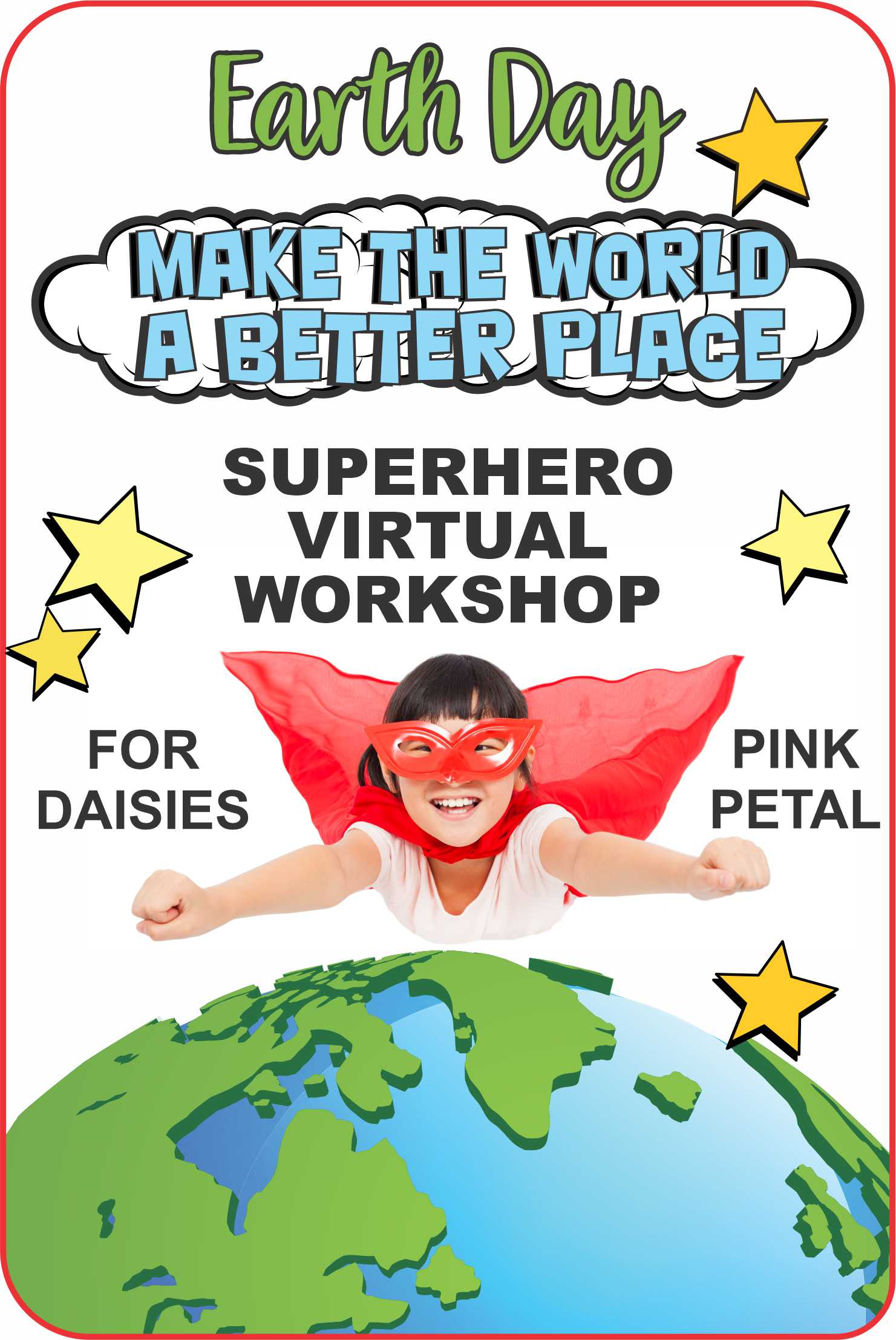 Superheroes know how to save the world and still have fun! Our Superheroes Jackie and Seraphina will show you how! You'll even learn a cheer! #makingfriends #superheroes #earthday #daisies #girlscouts #virtualworkshop #makethrworldbetter #gsdaisy #daisypetals #cheer via @gsleader411
