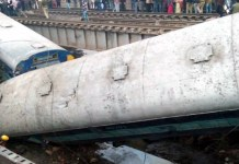 Ajmer-Sialdah Express derailed near Kanpur UP