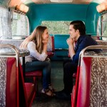 Sarah and Tony at Double D's Coffee Bus in Asheville
