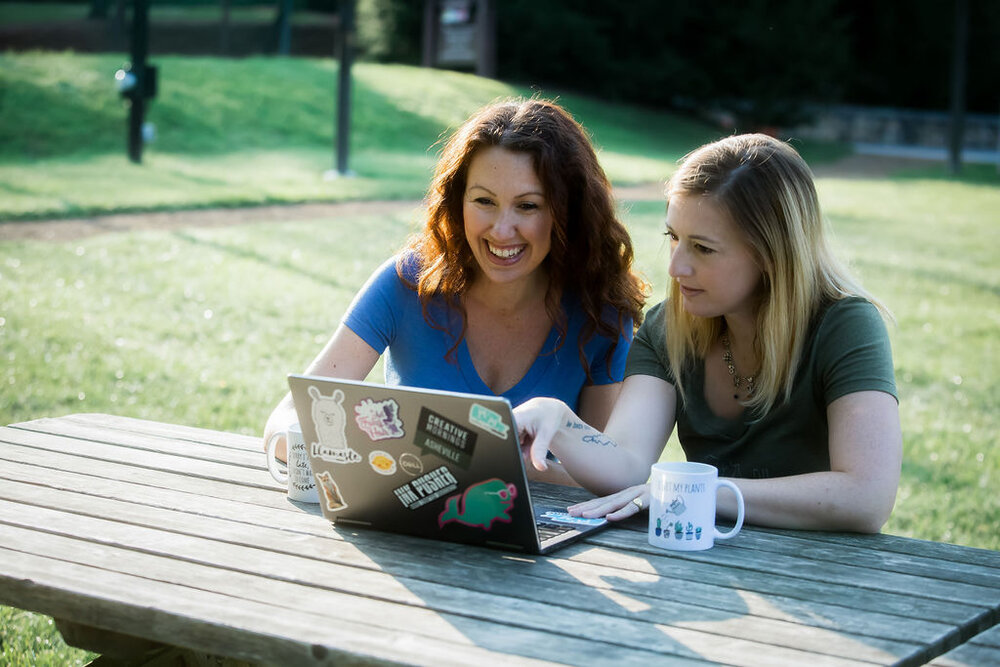 Nicole and Claire, founders of Moonlight Makers