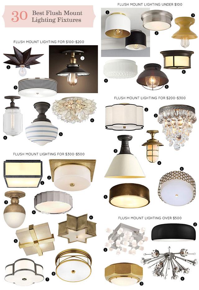 best flush mount lighting fixtures