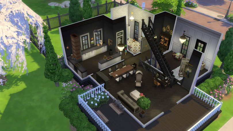 1st Floor Overview — Sims 4 Pink Victorian House, Making it Lovely
