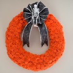 Halloween Felt Rose Wreath