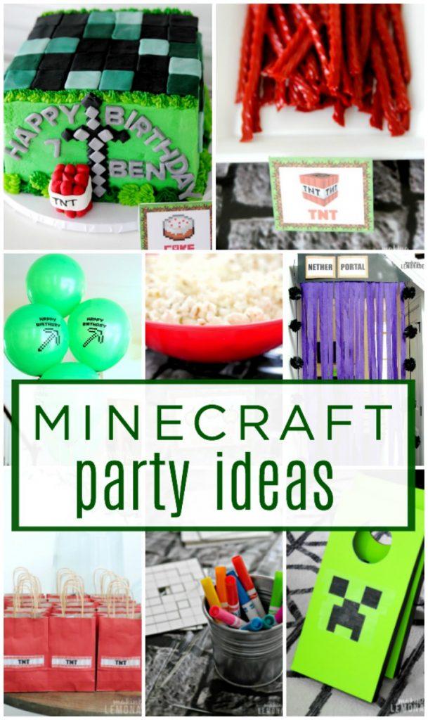 Minecraft Kids Birthday Party Ideas Making Lemonade