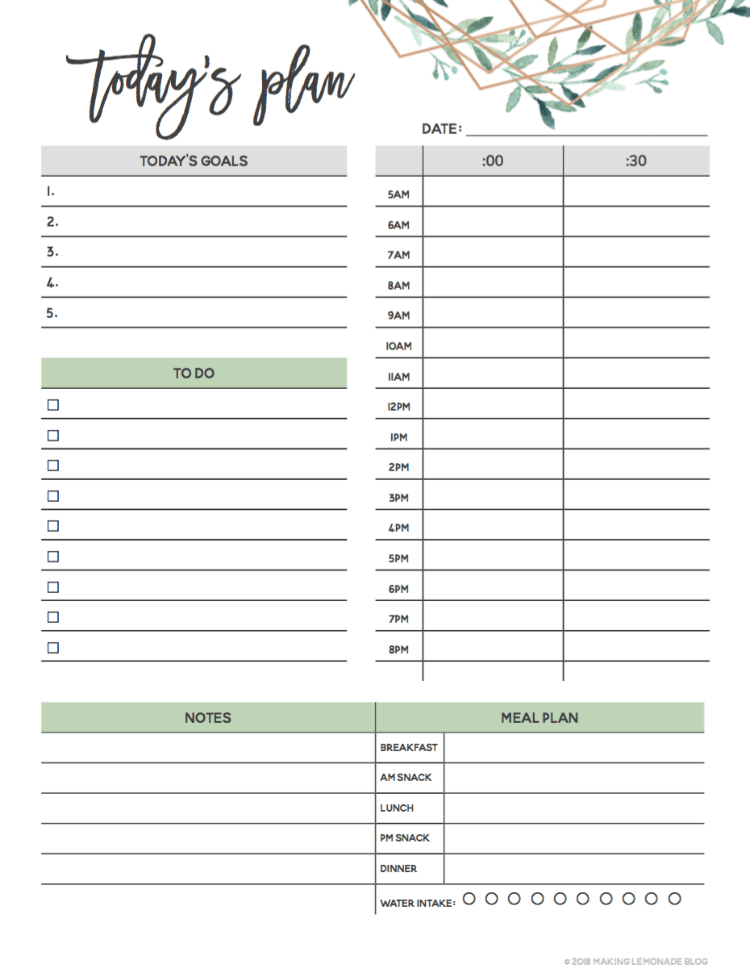 Get Organized With Our Free Printable 2019 Planner Making