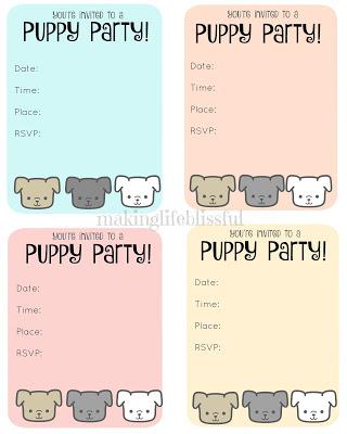 adopt a puppy birthday party ideas