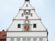 The clock in the town center
