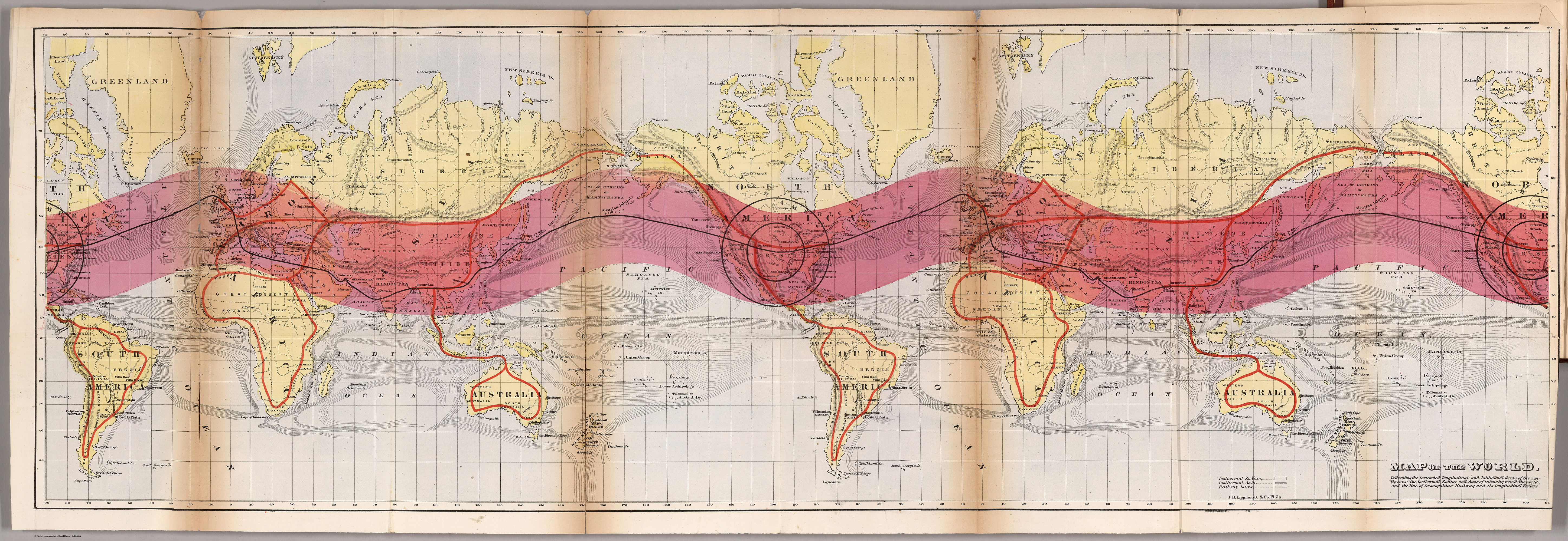 11 Color on Maps   Making Maps  DIY Cartography 01 gilpin world 1872 transverse 02 gilpin world 1872