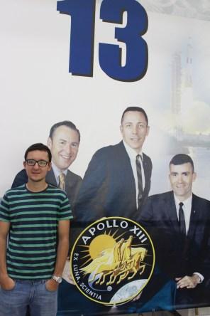 Pedro with the Apollo 13 crew.