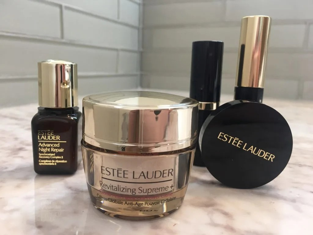 Estee Lauder 2018 free gift with purchase. Come see what I got plus pictures from my free makeover! #makeover #makeup #esteelauder