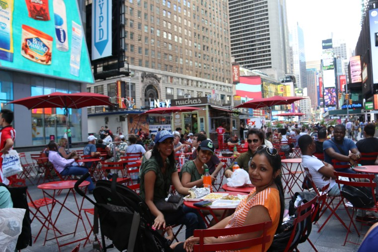 Lunch at Time Square. We ate gyros.