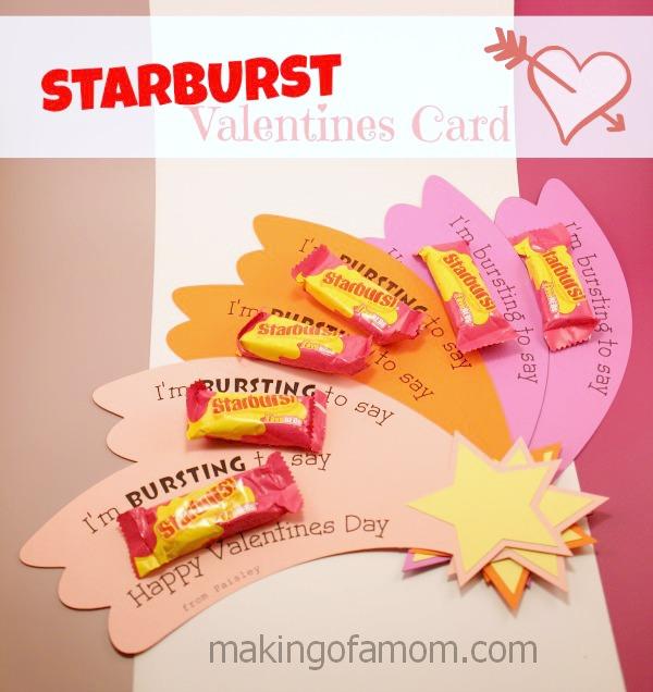 Starburst Valentines Day Card