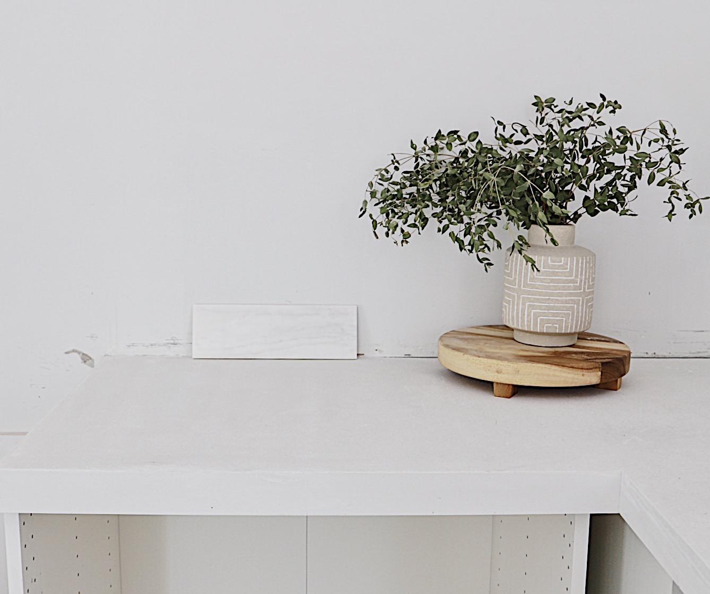 Diy White Concrete Countertops The Prep Pour