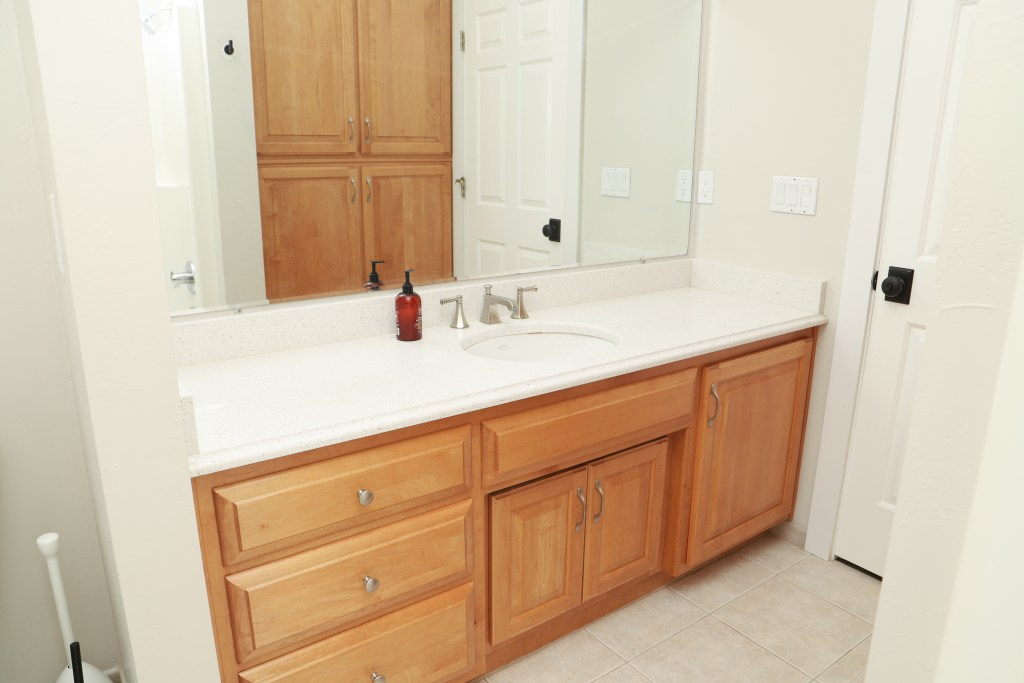 Transform Your Bathroom Vanity In A, How To Paint Bathroom Cabinets White Without Sanding
