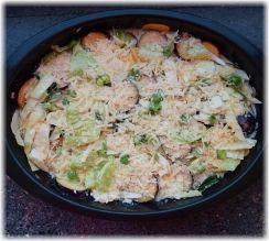 Kartoffel-Auberginen-Kohl-Auflauf