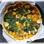 Kürbis-Spinat-Zucchini-Quiche