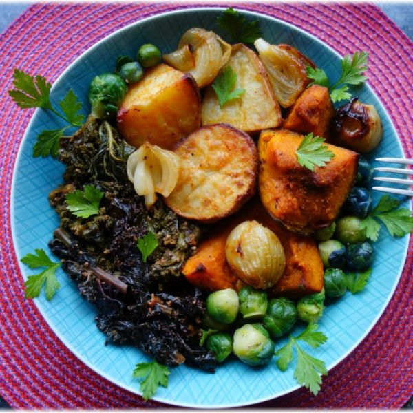 Grünkohl mal anders mit Räuchertofu, Kokosmilch und Ingwer