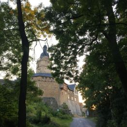 Burg Falkenstein. Hier finden regelmäßig Veranstaltungen und mittelalterliche Märkte rund um die Burg statt. Innen ist ein Museum zu besichtigen. Fußlahme fährt ein Bähnchen zur Burg.