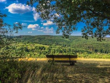 Ausblick Richtung Norden von der Questen-Anhöhe, Nähe Questenberg