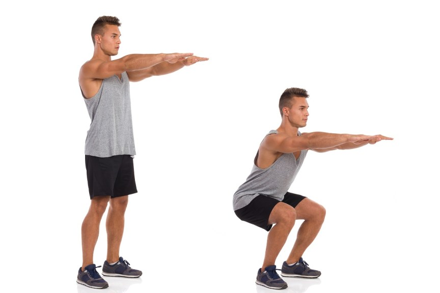 What are the benefits of doing 50 squats a day?
