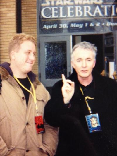 Jason with Anthony Daniels