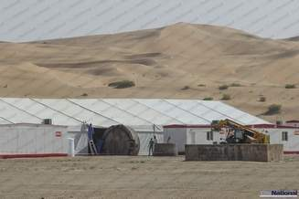 Photo of First Star Wars: Episode VII set photo from Abu Dhabi?