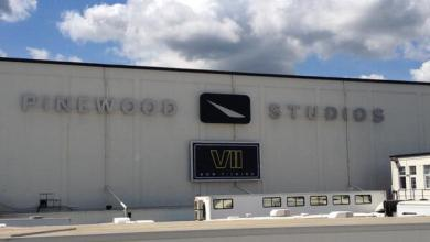 Photo of Star Wars: Episode VII Filming at Pinewood with Studio Sign Photo!