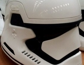 Photo of A real photo of a Star Wars: Episode VII Stormtrooper (not the concept art from yesterday).