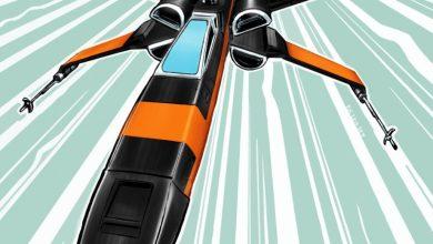XWING4 - Star Wars: Episode VII Fan Art of Black X-wing!