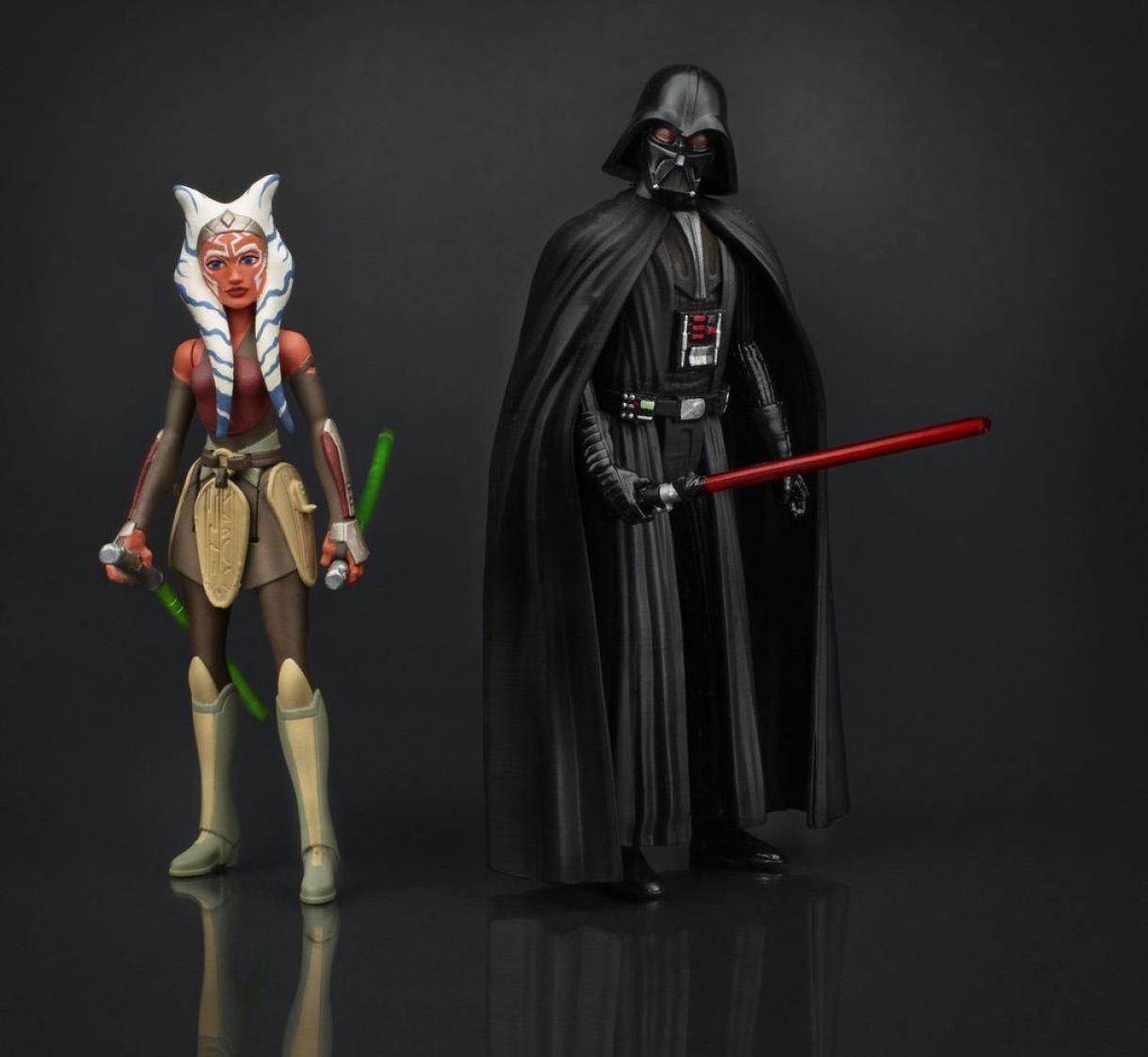 Hasbro Rebels Ahsoka and Darth Vader Action Figures