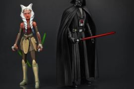 Hasbro Rebels Ahsoka and Darth Vader Action Figures - High Res Image of Ahsoka Tano and Darth Vader Action figures from Hasbro's Star Wars Rebels line!