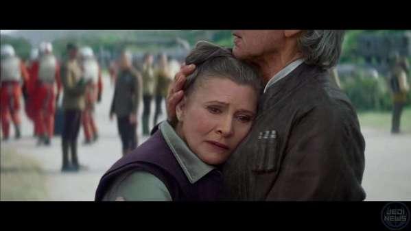 Han Leia hug